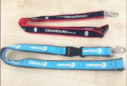 Custom Silk Printing Metal Hook Coolest Lanyards